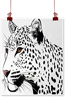 Jbgzzm Tattoo Art Oil Paintings Astonishing Big Cat Famous Symbol of The Courage Leopard Head with Spots Print Canvas Prints for Home Decorations 20