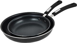 "Aramco 2 pc fry pan ceramic non-stick, 9""/11"", Silver"