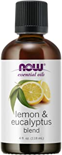 NOW Essential Oils, Lemon & Eucalyptus Oil Blend, Invigorating Aromatherapy Scent, Blend of Pure Lemon Oil and Pure Eucaly...