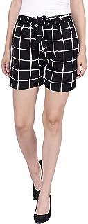 Pratyusha Women's Crepe Printed Shorts