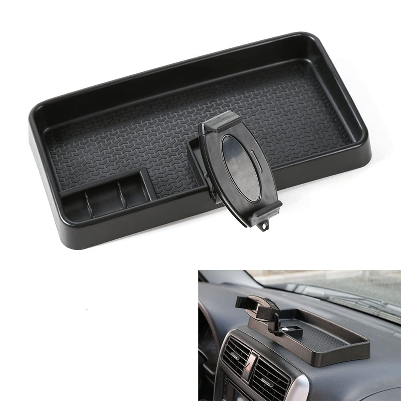 ミニチラチラするサージJicorzo - Car Multi-Mount Bracket Mobile Phone GPS Mount Cradle Holder Dashboard Storage Box Card Container For Suzuki Jimny 2007-2016