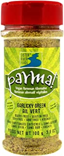 Parma! Vegan Parmesan Garlicky Green, Dairy-Free, Soy-Free and Gluten-Free Vegan Cheese, Plant-Based Superfood, Kosher (3.5 oz)