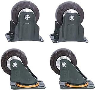 Zwenkwielen Bewegende zwenkwielen Zwarte rubberen industriële zwenkwielen met vaste bovenplaat Zware zwenkwielen Wielen en...