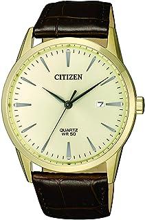 CITIZEN Mens Quartz Watch, Analog Display and Leather Strap - BI5002-14A