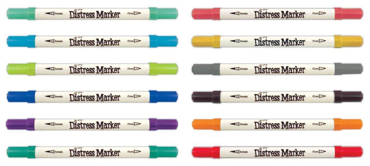Multicolor by Ranger Ranger TDMK50070 Tim Holtz Distress Markers Tube Set 61 Pack