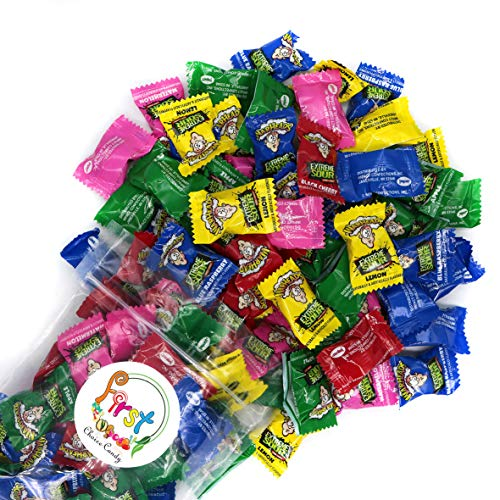 Warheads Extreme Sour Hard Candy Assorted Flavors ( Black Cherry, Watermelon, Apple, Blue Raspberry)...