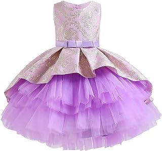 LZH Mädchen Kleid Elegant Prinzessin Kleider Cocktailkleid Abendkleid Vintage Muster Brautkleider Für Party Hochtzeit Geburtstag