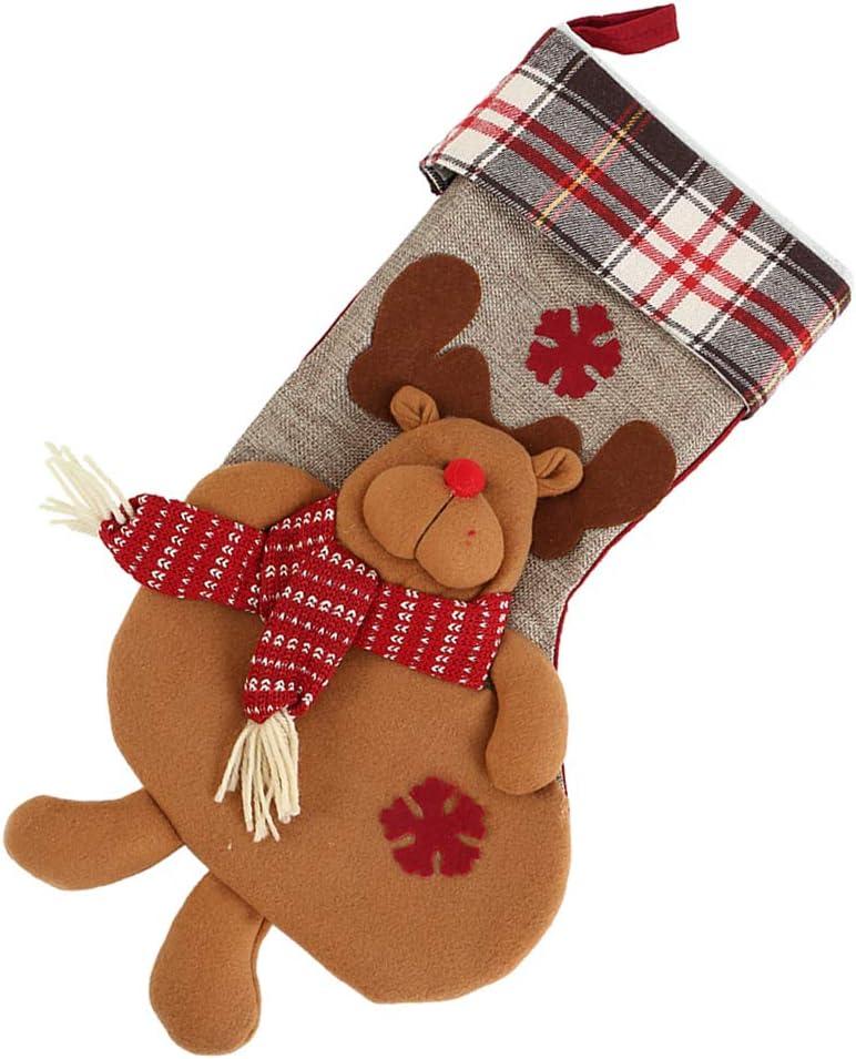"""Cherry Juilt 21""""Christmas Stockings Very popular Decorat Super special price Plush Christmas"""