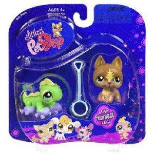 Hasbro Littlest Pet Shop - Pet Pairs - 2Pack - Funniest - Shepherd / Hund mit Leine #