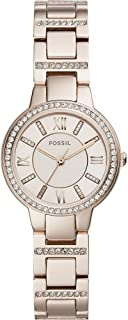 Fossil Womens Quartz Watch, Analog Display and Stainless Steel Strap ES4482