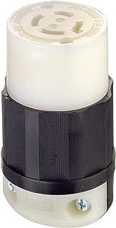 Leviton 2433 20 Amp, 480 Volt 3-phase, NEMA L16-20R, 3P, 4W, Locking Connector, Industrial Grade, Grounding - Black-White