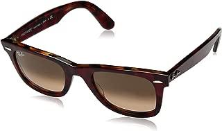 Ray-Ban RB2140 Wayfarer Sunglasses, Red Tortoise/Pink Gradient Brown, 50 mm
