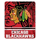 Chicago Blackhawks NHL Fleece Fade Away Throw Blanket (50 Inches by 60 Inches)