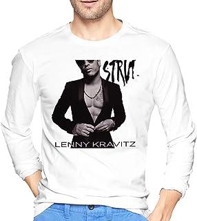 Camisetas de Manga Larga Lenny Kravitz Strut Mens Long Sleeve Tshirts White Camisas Casual Ropa Deportiva Hombre