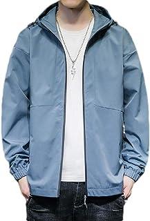 Frieed Mens Hoodie Hoodies Zip Up Windbreaker Long Sleeve Lightweight Solid Jacket