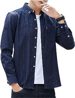 [エムエルーセ] ベーシック カラー 長袖 ボタンダウン シャツ カジュアル 春 秋 冬 メンズ
