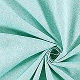 Fabulous Fabrics Halbpanama türkis, Uni, 140cm breit –