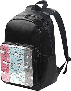 DEZIRO mochila de lona blanca con diseño de unicornios gordos, mochila de viaje, mochila plegable para exteriores, correas ajustables para el hombro