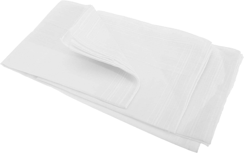 Mens Plain Cotton Rich Handkerchiefs (Pack Of 5)