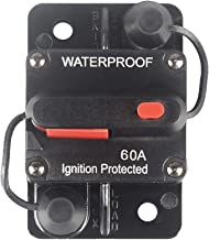 12V- 42V DC Waterproof ZET 60 Amp Circuit Breaker Replacement for Boat Trolling with Manual Reset 60A