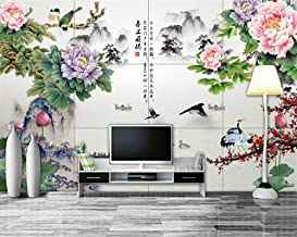 Mural wallpaper Custom Wallpaper Home Decoration Murals Chinese Peony Flowers Plum Ink Painting Tv Sofa Background Murals ...