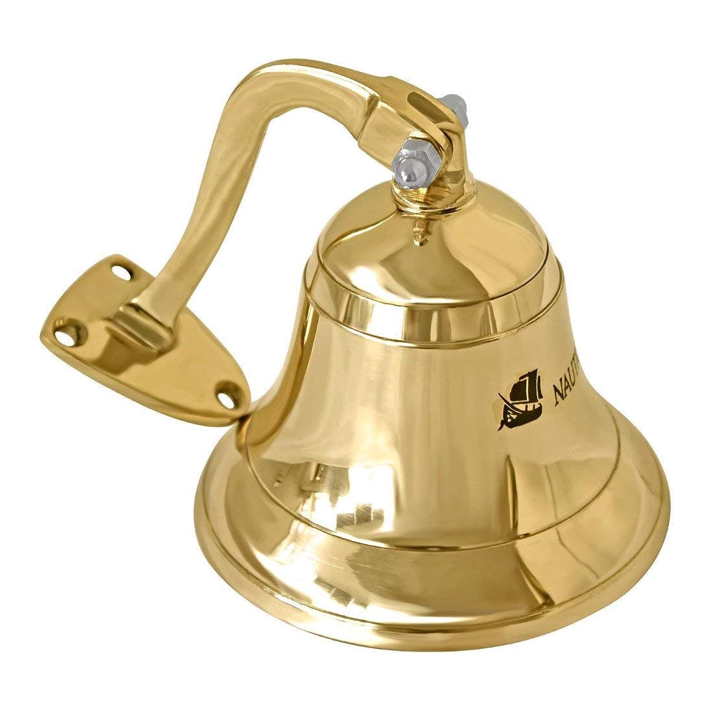 ITDC Solid Brass Heavy Bracket Ship Bell 8