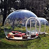 SKYTOU Bubble Tent, Inflatable Bubble Camping Tent Outdoor Single Tunnel Family Camping Tent Backyard Transparent Tent with Blower (Diameter 3M)