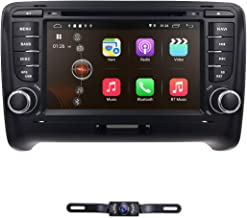 hizpo 7 Inch Android 9.0 Double Din Car Stereo Radio DVD Player for Audi TT MK2 2006-2014 Support Steering Wheel Control GPS Navigation Mirrorlink Bluetooth + Optional Digital TV DVR OBD2