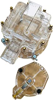 Motorhot Clear Distributor Cap & Rotor Kit fit for Chevy Pontiac Buick Olds V8