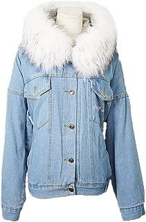 SERAPHY Kpop StrayKids Denim Fur Jackets Coats Warm Fleece Thick Parkas Hooded Jean Outwear Women Girls Winter Coat