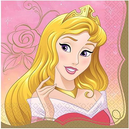 16 X Magique Princesse Serviettes Party Vaisselle Filles Anniversaire CENDRILLON CARRIAGE