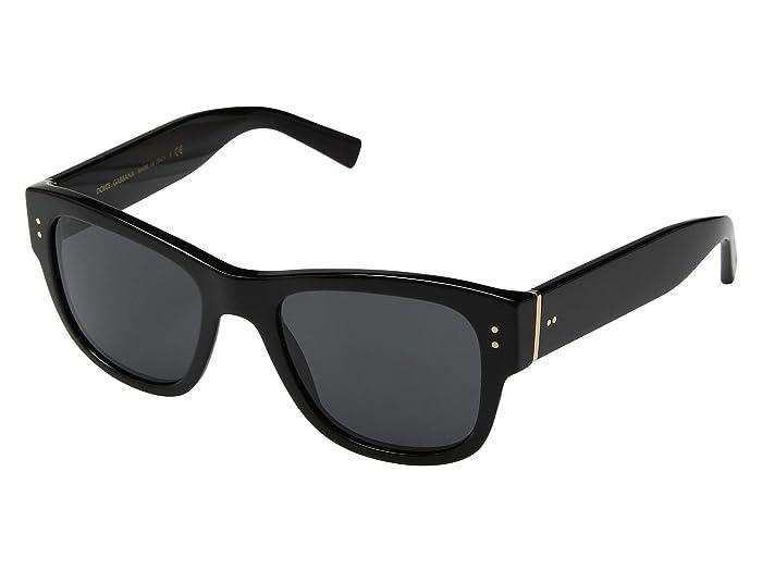 Dolce and Gabbana  DG4338 (Black/Grey) Fashion Sunglasses