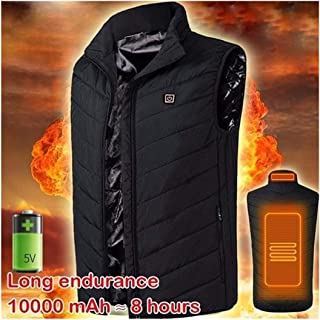 Dimandar Mens USB Infrared Heating Vest Jacket Winter Outdoor Carbon Fiber Electric Thermal Clothing Heated Waistcoat