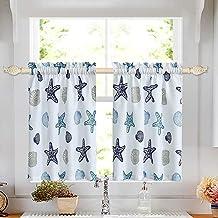 Amazon Com Beach Kitchen Curtains