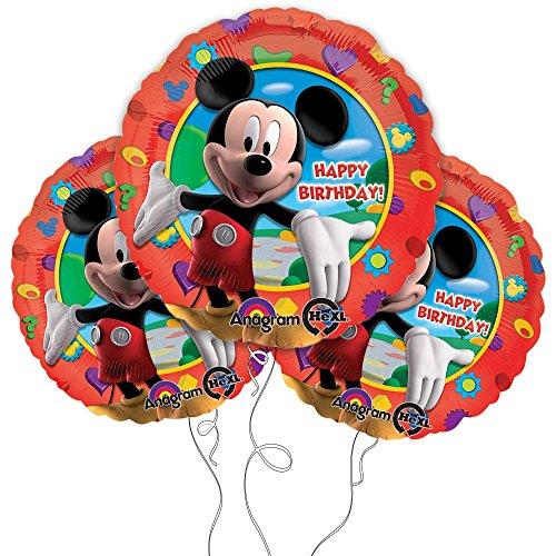 "Mickey Mouse Happy Birthday 18"" Mylar Balloon 3pk"