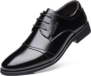 Men's Black Oxfords Shoes Formal Shoes (Color : Black, Size : 37)