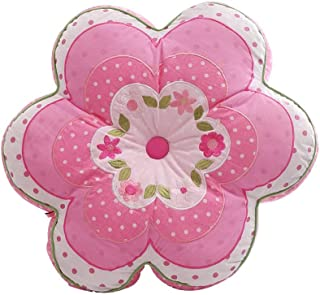 Brandream Girls Pillows Pink Flower Pillows Decorative Throw Pillow for Bed Pillows for Couch 100% Cotton
