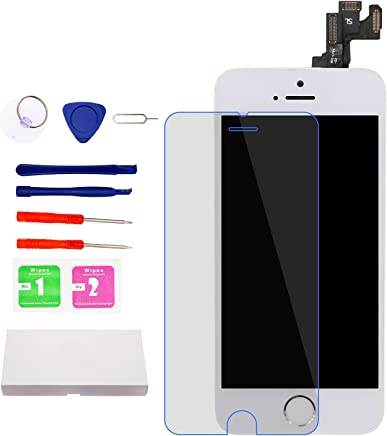 for iPhone 5S 4.0   Screen Replacement (White)with Home Button and Camera 25572d4c2cb