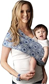 Seven Everyday Slings Baby Carrier Sling Color Blue/Grey Sonic Size 4/Medium