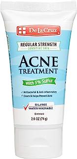De La Cruz 5% Sulfur Ointment Acne Treatment for Sensitive Skin - Medication to Clear Cystic Acne Pimples and Blackheads o...
