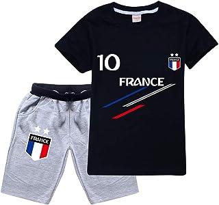 Conjunto de 2 estrellas para niño y niña, camiseta + pantalón corto de dos piezas