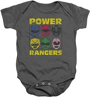 Power Rangers - Onsie Infant Snapsuit Ranger Helmets