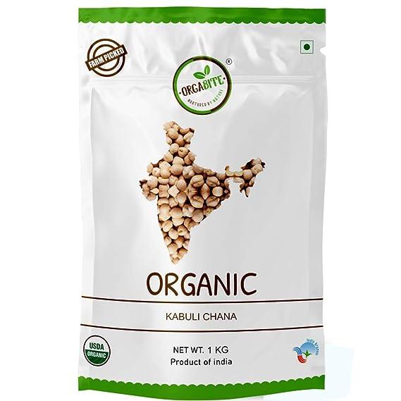 ORGABITE Organic Kabuli Chana (1 Kg)