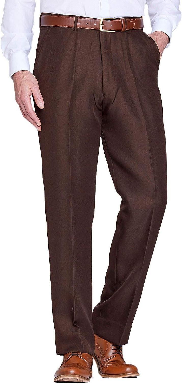 Recommendation Chums Mens Stretch Waist Formal Pants Sales Hidden Smart Trouser Work