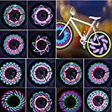 TINANA Bike Wheel Lights, LED Waterproof Bicycle Spoke Light 32-LED 32pcs...