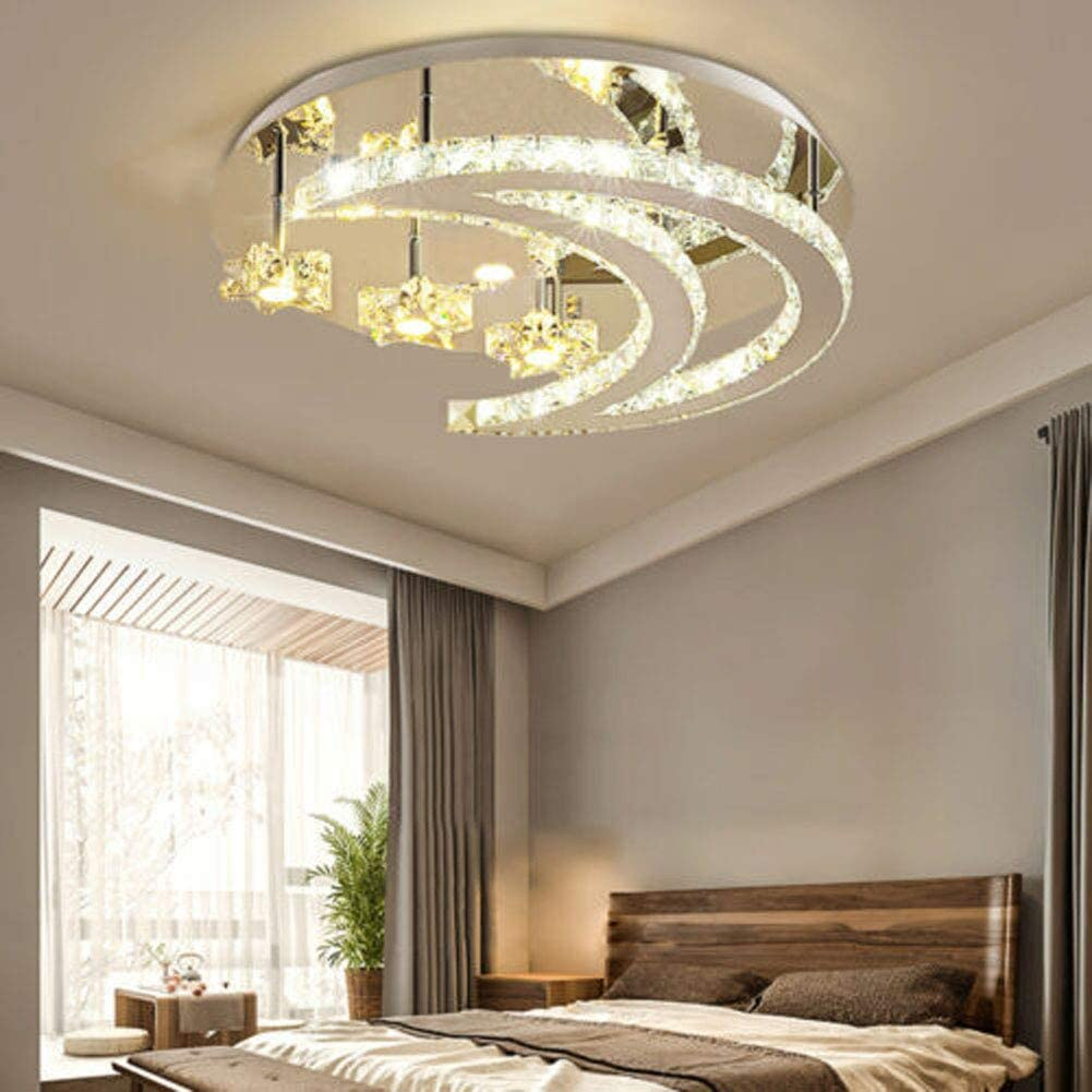 Modern Luxury Crystal LED Moon Star E Fixed 2021 autumn and winter new price for sale Lamp Ceiling Bedroom Light