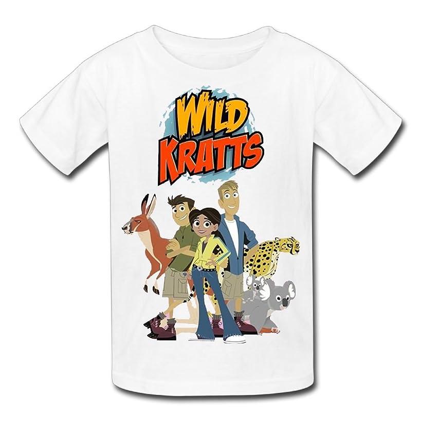 Erin Forman Teens Kids Popular Celebrity Short-Sleeve T-Shirt Wild Kratts Logo White