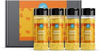 Marca Amazon - Happy Belly - Cúrcuma en polvo, 4x30g