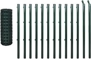vidaXL Euro Fence Set 25x1.2m Steel Green with Post Garden Farm Barrier Panel