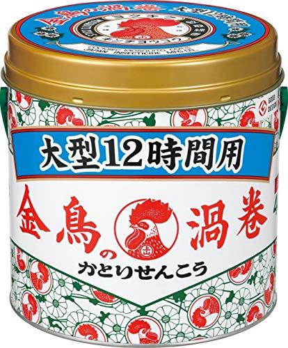 金鳥の渦巻 蚊取り線香 大型 12時間用 40巻 缶
